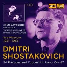 Dmitri Schostakowitsch (1906-1975): Präludien & Fugen op.87 Nr.1-24, 5 CDs