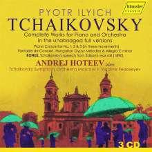 Peter Iljitsch Tschaikowsky (1840-1893): Sämtliche Werke für Klavier & Orchester (Urschriften), 3 CDs