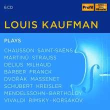 Louis Kaufman plays, 6 CDs