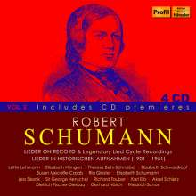 Robert Schumann (1810-1856): Lieder on Record & Legendary Lied-Cycle Recordings, 4 CDs