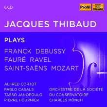 Jacques Thibaud plays Franck,Debussy,Faure,Ravel,Saint-Saens,Mozart, 6 CDs