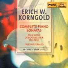Erich Wolfgang Korngold (1897-1957): Klaviersonaten Nr.1-3, CD