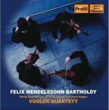 Felix Mendelssohn Bartholdy (1809-1847): Streichquartette Nr.1 & 4 (opp.12 & 44,2), CD