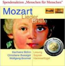 Wolfgang Amadeus Mozart (1756-1791): Lieder & Briefe, CD