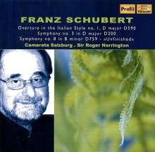 Franz Schubert (1797-1828): Symphonien Nr.3 & 8, CD