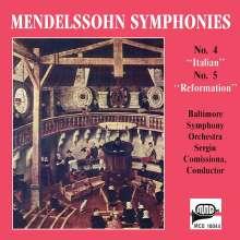 Felix Mendelssohn Bartholdy (1809-1847): Symphonien Nr.4 & 5, CD
