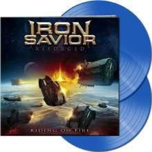Iron Savior: Reforged - Riding On Fire (Limited-Edition) (Clear Blue Vinyl), 2 LPs
