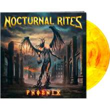 Nocturnal Rites: Phoenix (Limited Edition) (Yellow/Red Marbled Vinyl), LP
