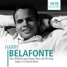 Harry Belafonte: Harry Belafonte Sings Calypso, Blues & Folk Songs (Box-Set), 10 CDs