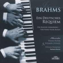 Johannes Brahms (1833-1897): Ein Deutsches Requiem op.45 für Klavier 4-händig, CD