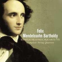 Felix Mendelssohn Bartholdy (1809-1847): Sämtliche Streichquartette, 4 CDs