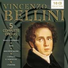Vincenzo Bellini (1801-1835): 5 Opern (Gesamtaufnahmen), 10 CDs