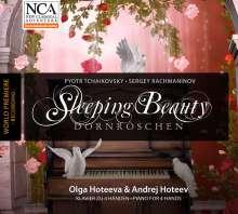 Peter Iljitsch Tschaikowsky (1840-1893): Dornröschen für Klavier 4-händig (arr. von Rachmaninoff), CD