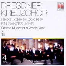 Dresdner Kreuzchor - Geistliche Musik für ein ganzes Jahr, 4 CDs