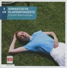 Romantische Klavierkonzerte, 5 CDs