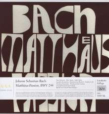 Johann Sebastian Bach (1685-1750): Matthäus-Passion BWV 244 (180g), 4 LPs