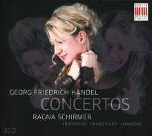 Georg Friedrich Händel (1685-1759): Konzerte für Hammerklavier/Flügel/Hammond-Orgel, 3 CDs