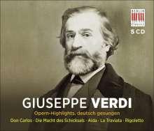 Giuseppe Verdi (1813-1901): 5 Opern-Highlights (in deutscher Sprache), 5 CDs