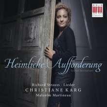 """Richard Strauss (1864-1949): Lieder """"Heimliche Aufforderung"""", CD"""