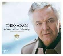 Theo Adam - Edition zum 90. Geburtstag, 3 CDs