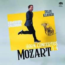 Wolfgang Amadeus Mozart (1756-1791): Hornkonzerte Nr.1-4 (180g), LP