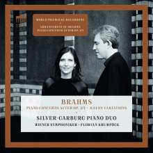 Johannes Brahms (1833-1897): Konzert für Klavier 4-händig & Orchester g-moll (nach dem Klavierquartett op.25), CD