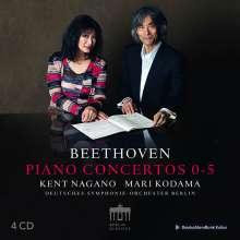Ludwig van Beethoven (1770-1827): Klavierkonzerte Nr.1-5, 4 CDs