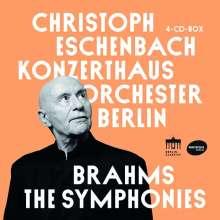 Johannes Brahms (1833-1897): Symphonien Nr.1-4, 4 CDs