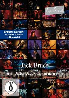 Jack Bruce: Rockpalast: The 50th Birthday Concerts (CD + 3DVD), 3 DVDs