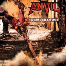 Anvil: Pounding The Pavement (180g) (White w/ Black Marble Vinyl), 2 LPs und 1 CD