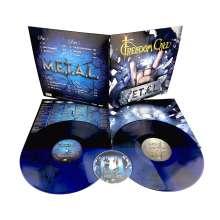 Freedom Call: M.E.T.A.L. (180g) (Blue Vinyl), 2 LPs und 1 CD