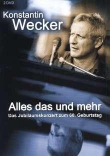 Konstantin Wecker: Alles das und mehr - Jubiläumskonzert, Circus Krone, 1.6.07, 2 DVDs