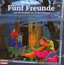 Fünf Freunde (Folge 070) - Die Rückkehr zur Gespensterinsel, CD