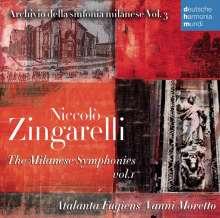 Nicolo Zingarelli (1752-1837): Mailänder Symphonien Vol.1, CD