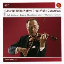Jascha Heifetz - Great Violin Concertos, 6 CDs