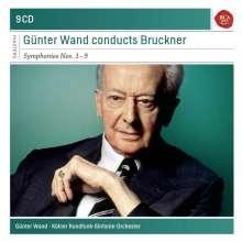 Anton Bruckner (1824-1896): Symphonien Nr.1-9, 9 CDs
