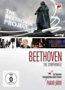 Ludwig van Beethoven (1770-1827): Das Beethoven-Projekt (Symphonien & Dokumentation), 4 DVDs