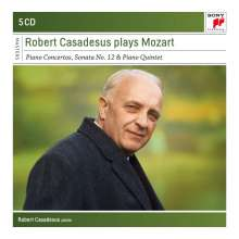 Robert Casadesus plays Mozart, 5 CDs