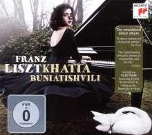 Franz Liszt (1811-1886): Klavierwerke (Deluxe-Edition mit DVD), 1 CD und 1 DVD