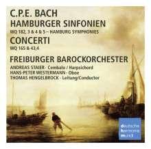 Carl Philipp Emanuel Bach (1714-1788): Symphonien Wq.182 Nr.3-5, CD