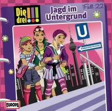 Die drei !!! Fall 22 - Jagd im Untergrund, CD
