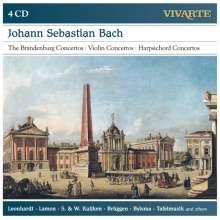 Johann Sebastian Bach (1685-1750): Brandenburgische Konzerte Nr.1-6, 4 CDs