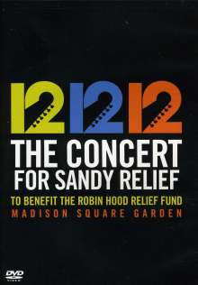 12 12 12: The Concert For Sandy Relief - Madison Square Garden, DVD