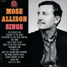 Mose Allison (1927-2016): Mose Allison Sings, CD