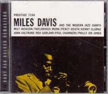 Miles Davis (1926-1991): Miles Davis & Modern Jazz Giants (Rudy Van Gelder Remasters), CD