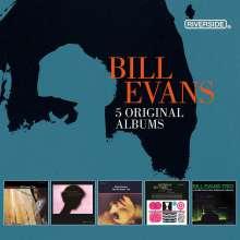 Bill Evans (Piano) (1929-1980): 5 Original Albums, 5 CDs