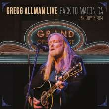 Gregg Allman: Gregg Allman Live: Back To Macon, GA, 14.1.2014, 2 CDs