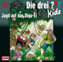 Die Drei ??? Kids 46: Jagd auf das Dino-Ei, CD