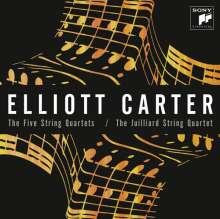 Elliott Carter (1908-2012): Streichquartette Nr.1-5, 2 CDs