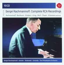 Sergej Rachmaninoff - His Complete Recordings, 10 CDs